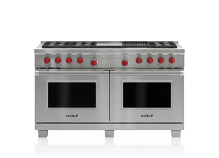 Wolf 152 cm Dual Fuel Range - 6 Burners, Infrared Chargrill and Infrared Teppanyaki ICBDF606CG