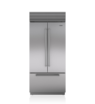 Sub-Zero 91 CM Classic French Door Refrigerator/Freezer with Internal Dispenser ICBBI-36UFDID/S