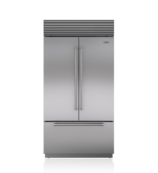 Sub-Zero 107 CM Classic French Door Refrigerator/Freezer with Internal Dispenser ICBBI-42UFDID/S