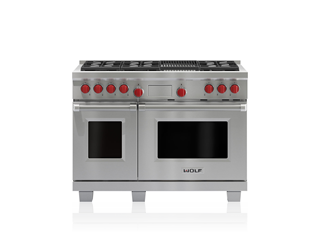 Wolf 122 cm Dual Fuel Range - 6 Burners and Infrared Chargrill ICBDF486C