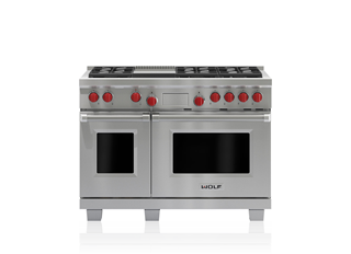 Wolf 122 cm Dual Fuel Range - 6 Burners and Infrared Teppanyaki ICBDF486G