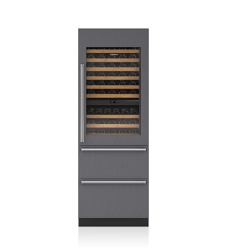 Sub-Zero 76 CM Integrated Wine Storage with Refrigerator Drawers - Panel Ready ICBIW-30R