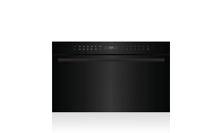 Wolf 76 cm E Series Contemporary Drop-down Door Microwave Oven ICBMDD30CM/B/TH Shown with optional Black Handle Accessory