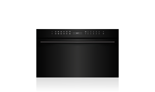 Wolf 76 cm E Series Contemporary Speed Oven ICBSPO30CM/B/TH Shown with optional Black Handle Accessory
