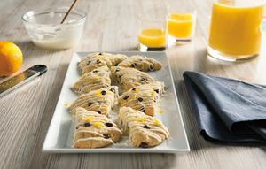 Dark Chocolate Orange Scones